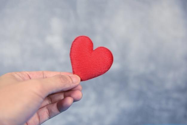 Coração na mão Foto Premium