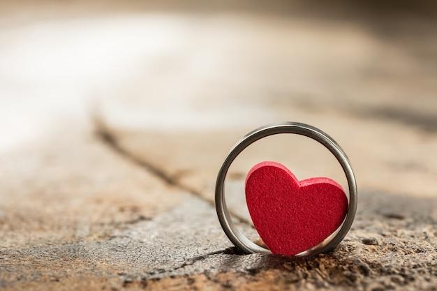 Coração pequeno no ringue Foto Premium