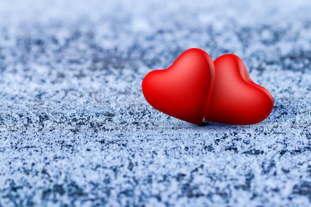 Corações dos namorados Foto Premium