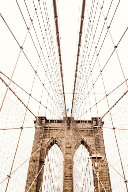 Cordas na ponte do brooklyn Foto gratuita