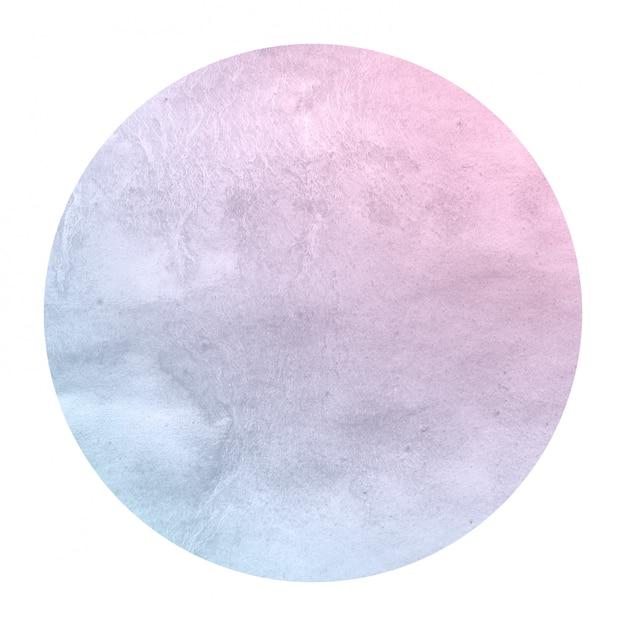 Cores de espaço mão desenhada textura de fundo quadro aquarela circular com manchas Foto Premium