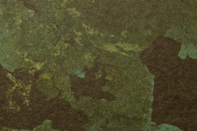 Cores marrons e verdes escuras do fundo da arte abstrata. Foto Premium