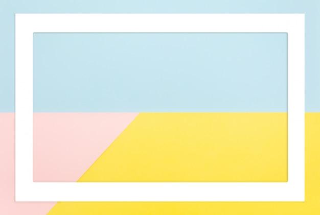 Cores pastel abstratas forma geométrica. Foto Premium