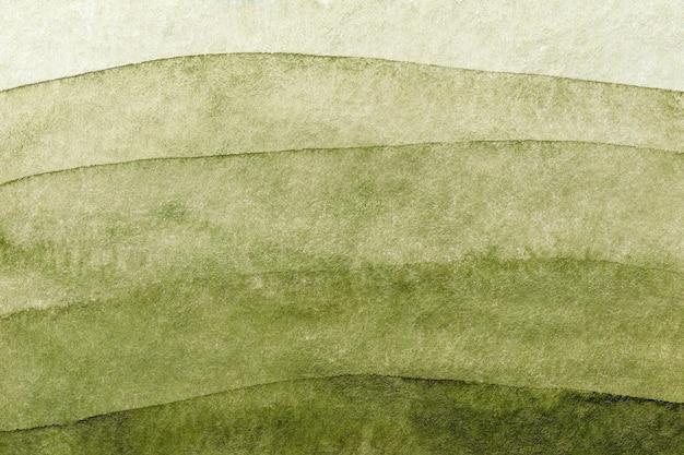 Cores verdes e verde-oliva do fundo da arte abstrata. pintura em aquarela sobre papel áspero com gradiente verde. Foto Premium