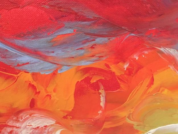 Cores vermelhas e alaranjadas do fundo da arte abstracta. Foto Premium