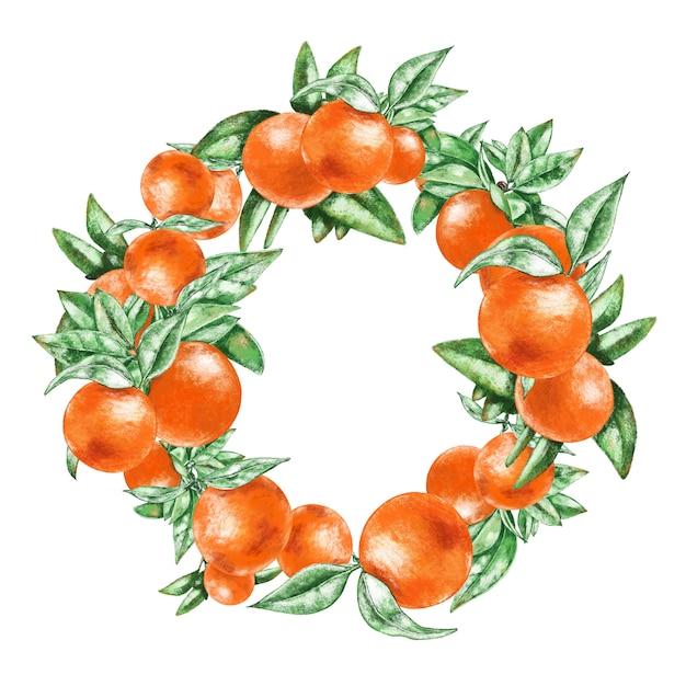 Coroa de laranjas. Foto Premium
