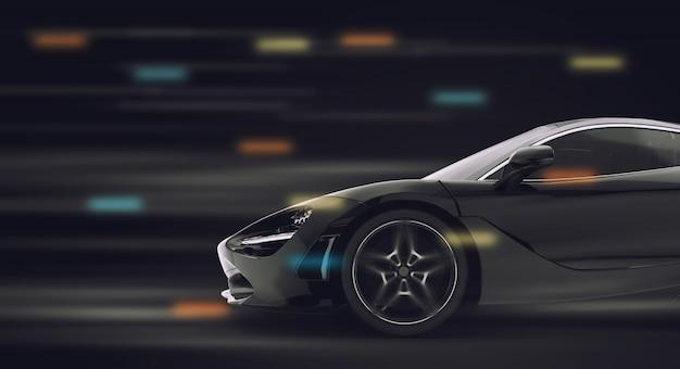 Corrida de carro esporte genérico e brandless Foto Premium