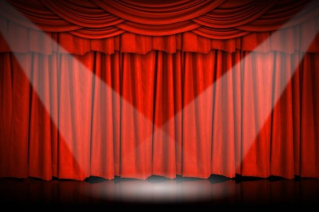 Cortinas e palco. Foto Premium