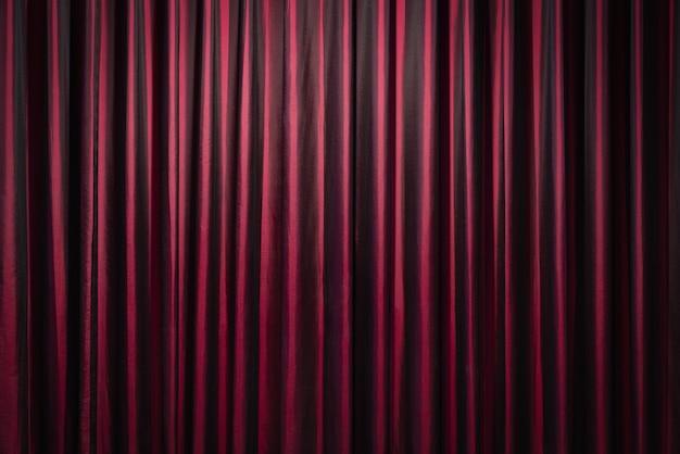 Cortinas vermelhas em fundo de teatro Foto Premium