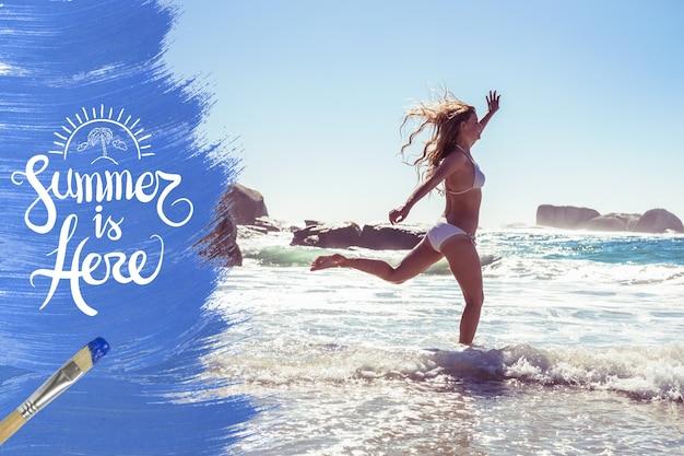 Costa arte criatividade árvore da praia Foto gratuita