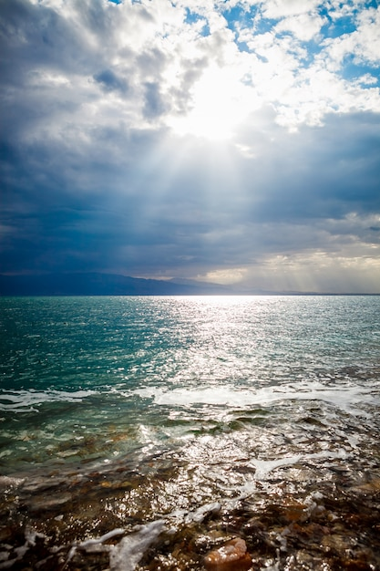 Costa do mar morto, israel Foto Premium