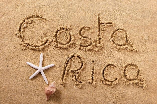 Costa rica summer beach escrevendo mensagem Foto Premium