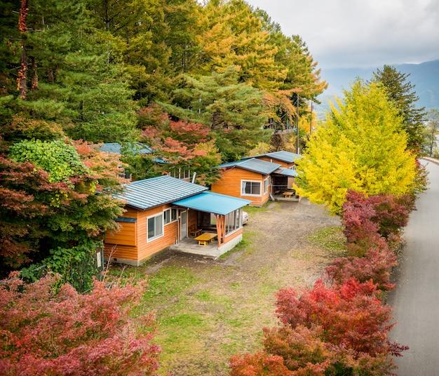 Cottage na floresta Foto Premium