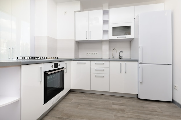 Cozinha branca moderna Foto Premium