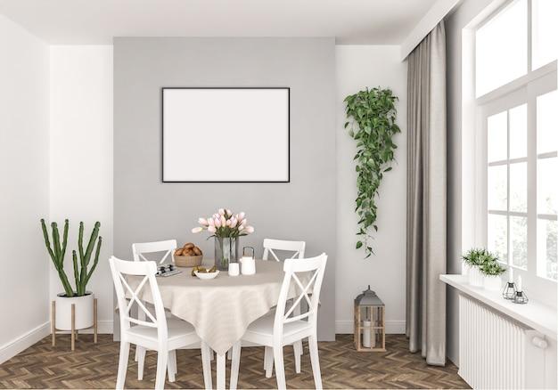 Cozinha com moldura horizontal vazia Foto Premium