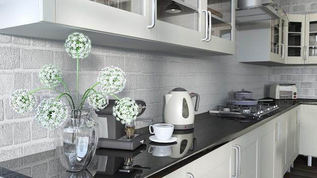 Cozinha contemporânea Foto gratuita