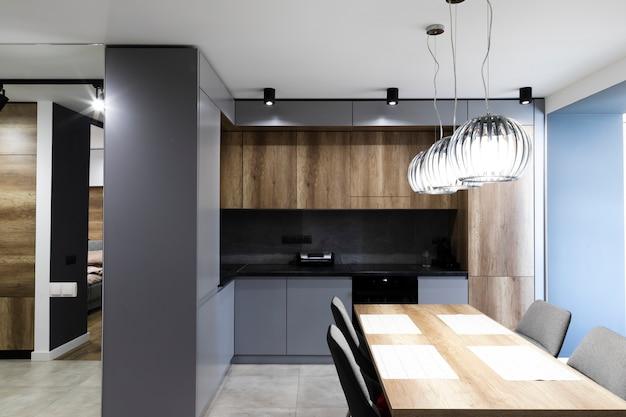 Cozinha de design moderno e sala de jantar Foto gratuita