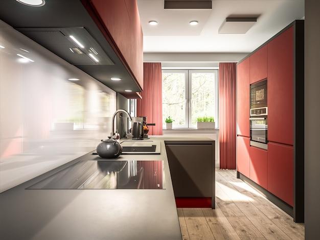 Cozinha elegante Foto Premium