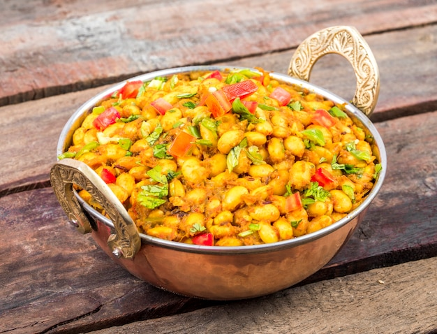 Cozinha indiana rajma masala food Foto Premium