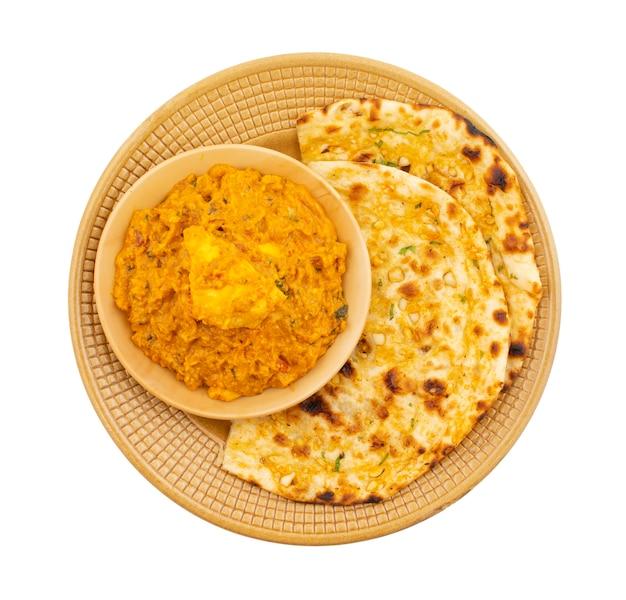 Cozinha vegetariana indiana paneer doce e picante especial pasanda Foto Premium