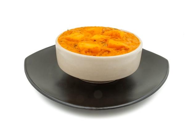 Cozinha vegetariana popular indiana queijo manteiga masala Foto Premium
