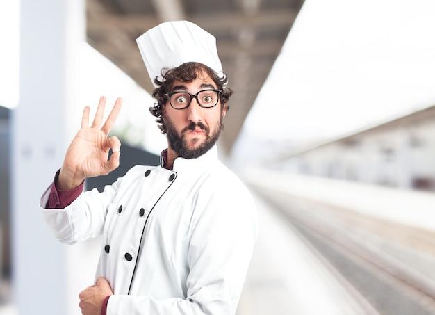Cozinhe dizer ok Foto gratuita
