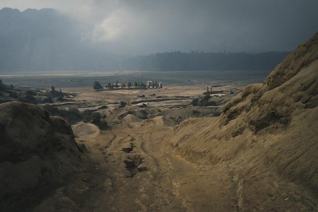 Cratera do monte bromo Foto Premium