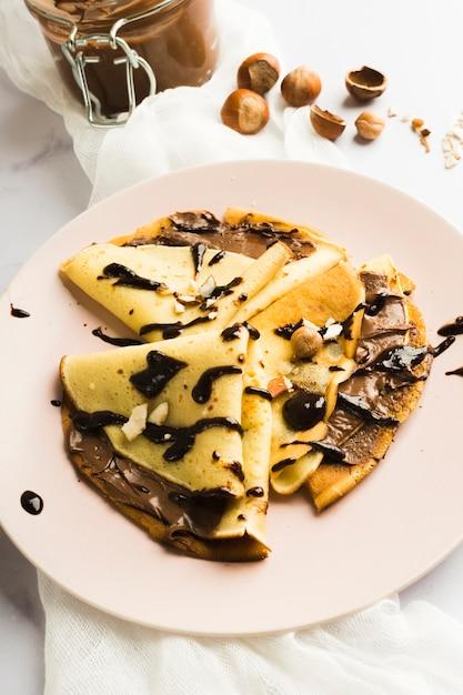 Crepe de chocolate Foto gratuita