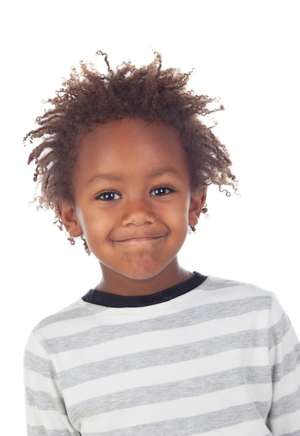 Criança africana fazendo caretas Foto Premium
