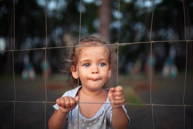 Crianças desaparecidas. garotinha Foto Premium