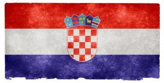 Croácia grunge bandeira Foto gratuita