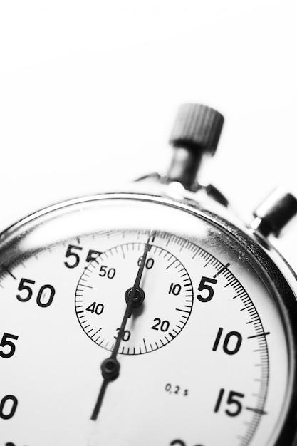 Cronômetro preto e branco Foto Premium