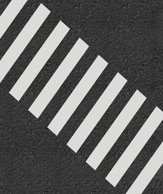 Crosswalk estilo minimalista renderização em 3d Foto Premium