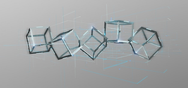 Cubo blockchain isolado na Foto Premium