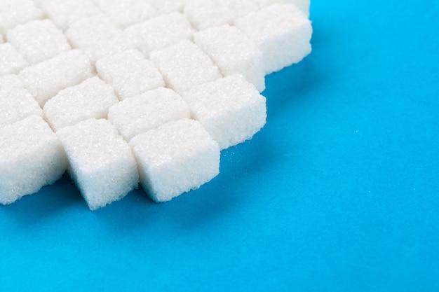 Cubos de açúcar branco Foto Premium