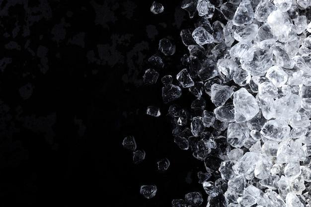 Cubos de gelo picado textura de fundo Foto Premium