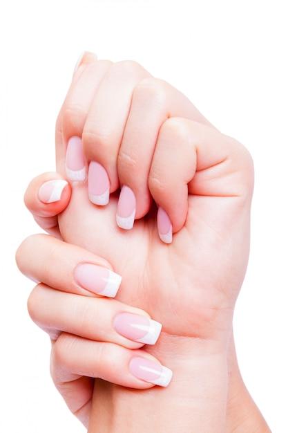 Cuidar de unhas de mulher sensualidade Foto Premium