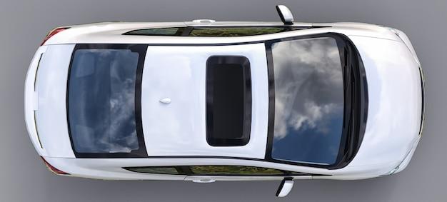 Cupê de carro esportivo pequeno branco Foto Premium