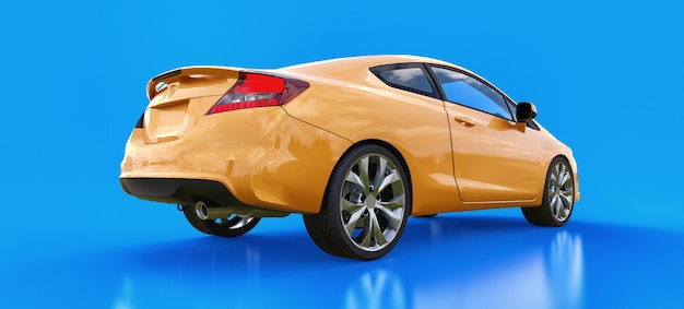 Cupê de carro esportivo pequeno laranja Foto Premium