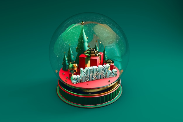 Cúpula com representação de natal com verde Foto Premium