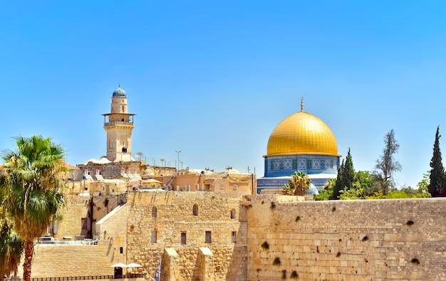 Cúpula da rocha em jerusalém, israel Foto Premium