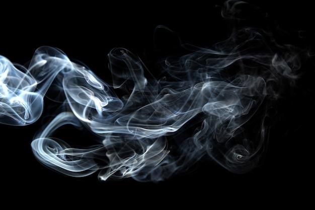 Curvas de fumaça de fundo abstrato e onda Foto Premium