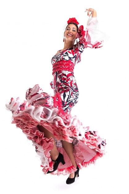Dançarina de flamenco com lindo vestido Foto gratuita