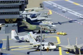 Deck de porta-aviões Foto gratuita