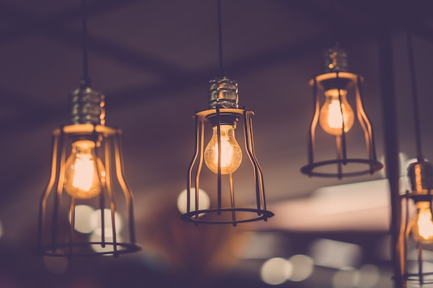 Decoração antiga lâmpada Foto Premium
