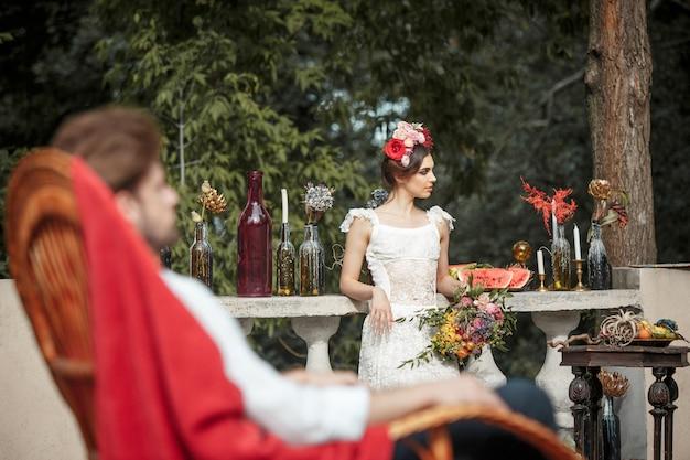 Decoração de casamento no estilo boho Foto gratuita