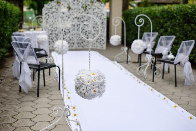 Decoração de casamento. pode ser usado como pano de fundo Foto Premium