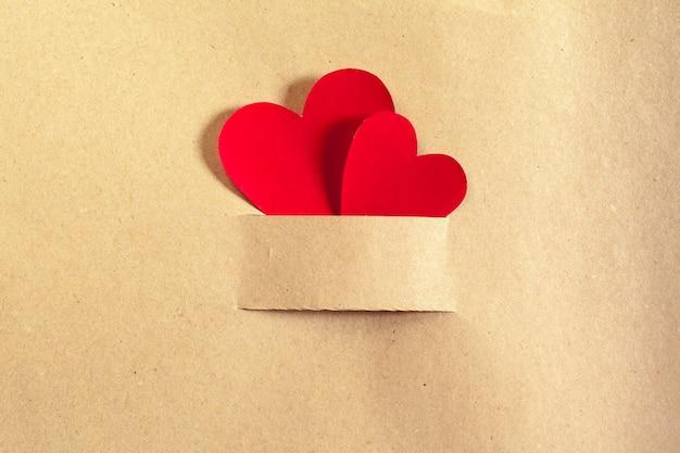 Decoração de corações pequenos de pano Foto Premium