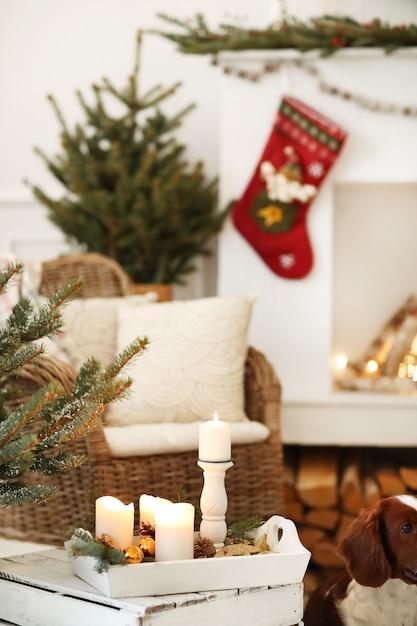 Decoração de natal em casa Foto gratuita