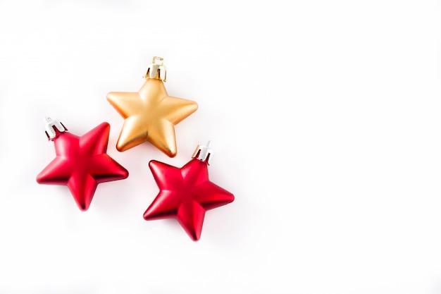 Decoração de natal estrela isolada no branco Foto Premium